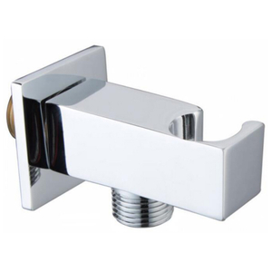 Brass square shower holder with connection